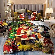 Juego de ropa de cama de Navidad, Papá Noel y