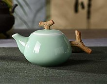 Juego de té de cerámica tetera celadón