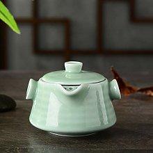 Juego de té de cerámica, tetera, verde frijol