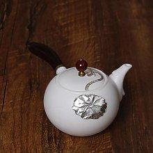 Juego de té, tetera, cerámica, plata esterlina,
