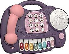 Juguete de teléfono Musical para bebé, Tambor de