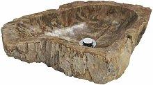 JUMBO Lavabo Sobre Encimera De Piedra Marrón -