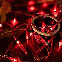 JUSTDOLIFE Cadena de Navidad Luz USB Bombilla de
