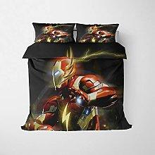 JWJW Iron Man - Funda de edredón reversible con