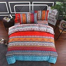JXING Boho - Juego de ropa de cama (2/3 piezas,
