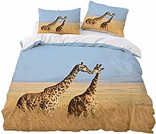 JXING - Juego de cama 3D con diseño de jirafa de