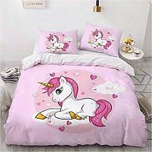 JXING - Juego de cama con diseño de unicornio en