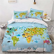 JXING - Juego de ropa de cama infantil de dibujos