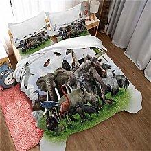 JXING Ropa de cama infantil, diseño de animales