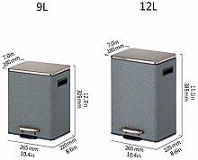 JYDQM Cubos de Basura, Cubo de Basura de Acero