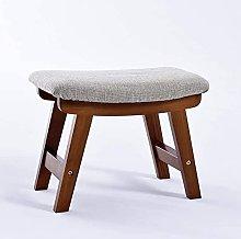 JYHJ Taburete bajo de madera maciza con diseño de