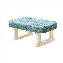 JYHJ Taburete bajo de madera maciza para sofá,