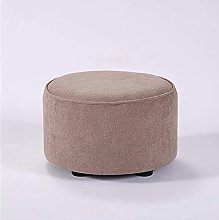JYHJ Taburete para sofá de tela de madera maciza