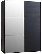 JYSK Armario TARP 151x201 con espejo negro