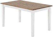 JYSK Mesa comedor WIEN 85x140 blanco/marrón