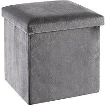 JYSK Puf KALUM 38x38 terciopelo gris