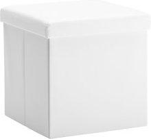 JYSK Puf LADELUND 40x40 con almacenaje blanco