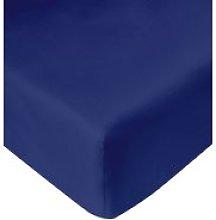 JYSK Sábana ajust percal 90x200x28cm azul