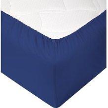 JYSK Sábana ajustable 180x200x28cm azul