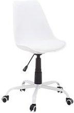 JYSK Silla de oficina BLOKHUS blanco