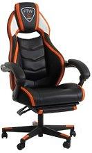 JYSK Silla gaming GAMBORG negro/naranja