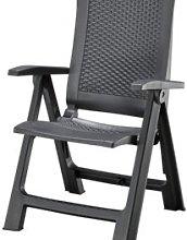 JYSK Silla reclinable LIVORNO gris oscuro