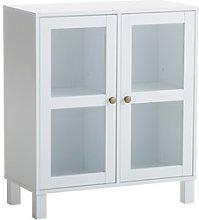 JYSK Vitrina SKALS puertas cristal blanco