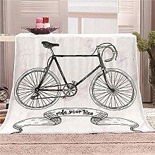 JYSZSD Mantas para sofá de flanela Bicicleta