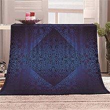 JYSZSD Mantas para sofá de flanela Flor Azul