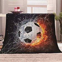 JYSZSD Mantas para sofá de flanela Fútbol de