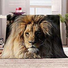 JYSZSD Mantas para sofá de flanela León Animal