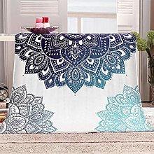 JYSZSD Mantas para sofá de flanela Mandala Azul