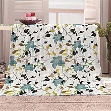 JYSZSD Mantas para sofá de flanela orquídea