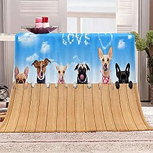 JYSZSD Mantas para sofá de flanela Perro Animal