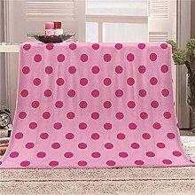 JYSZSD Mantas para sofá de flanela Puntos Rosados