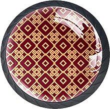 KAMEARI Tiradores de cajón con forma de círculo,