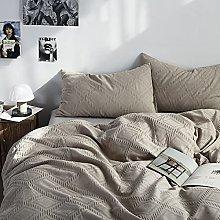KANGH Bigwaffle-Khaki-4 piezas de algodón lavado