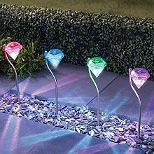 Kansang 4 luces solares de diamante para