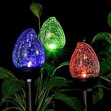 Kansang Lámpara solar para exteriores de acero