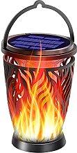 Kansang Linterna solar mejorada con llama