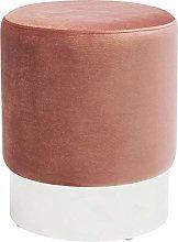 KARE Design - Taburete Cherry rosa plata Ø35 cm