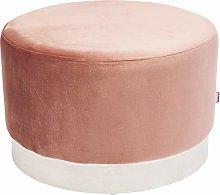 KARE Design - Taburete Cherry rosa plata Ø55 cm
