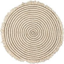 Kave Home - Alfombra redonda Gisel de yute y