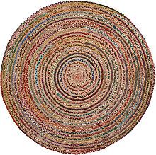 Kave Home - Alfombra Saht Ø 100 cm multicolor