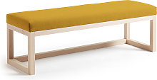 Kave Home - Banqueta Loya mostaza de madera maciza