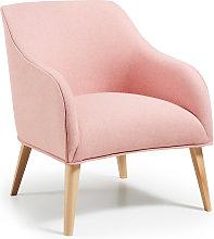 Kave Home - Butaca Bobly rosa