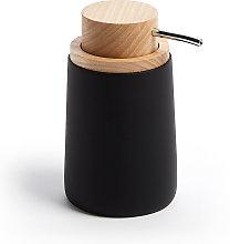 Kave Home - Dispensador de jabón Jenning negro y