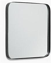Kave Home - Espejo de pared Marco negro cuadrado