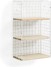 Kave Home - Estantería de pared Deland de madera
