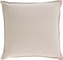 Kave Home - Funda cojín Achebe algodón y lino